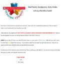 Scholastic Letter to Parents