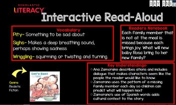 "Scholastic Literacy Unit 1 Week 3 ""My Family & Me"" Flipchart First Grade"