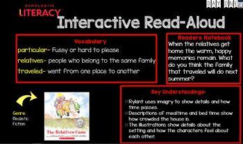 "Scholastic Literacy Unit 1 Week 4 ""My Family & Me"" Flipchart First Grade"