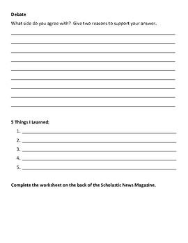 Scholastic Magazine Graphic Organizer Worksheet
