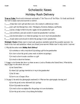 Scholastic News Holiday Rush Delivery: Nov/Dec 2017 2nd grade