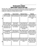 Scholastic News Response Choice Board