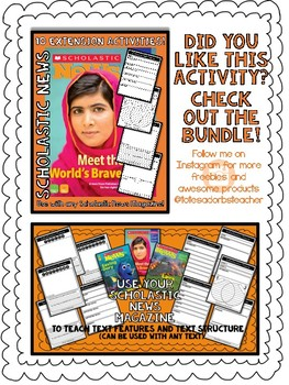 Scholastic News - Text Feature - FREEBIE!