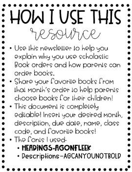 Scholastic Newsletter Template