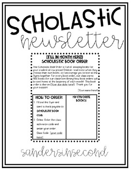 Scholastic Newsletter Template