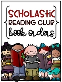Scholastic Reading Club Book Order Organization {EDITABLE}