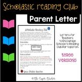 Scholastic Reading Club Parent Letter