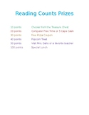 Scholastic Reading Counts Prize List