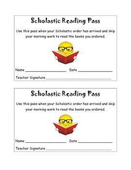 Scholastic Reading Passes