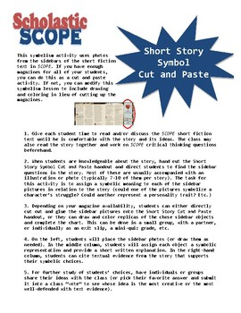 Scholastic SCOPE Fiction Symbol Cut & Paste
