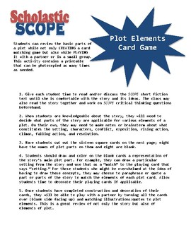 Scholastic SCOPE Fiction Plot Card Game