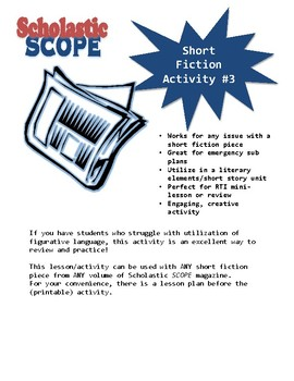 Scholastic SCOPE Fiction Activity #3