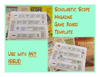 Scholastic SCOPE Game Board Template
