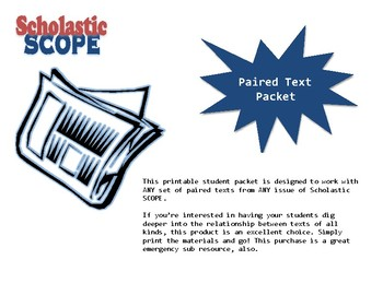 Scholastic SCOPE Paired Texts Packet