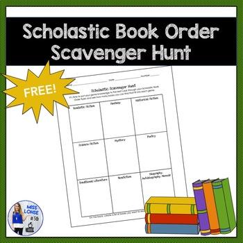 Scholastic Scavenger Hunt