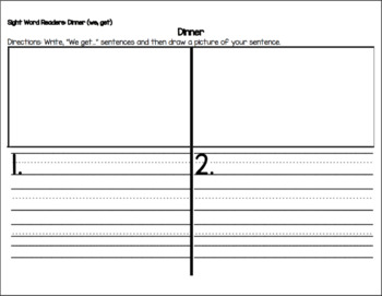 Scholastic Sight Word Readers Writing Activity Pages