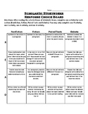 Scholastic Storyworks Response Choice Board