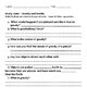 Scholastic Study Jams note pages for Force and Motion & Gravity and Inertia