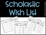 Scholastic Book Order Wish List (Editable)