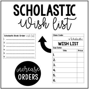 Scholastic book wish list teaching resources teachers pay teachers fandeluxe
