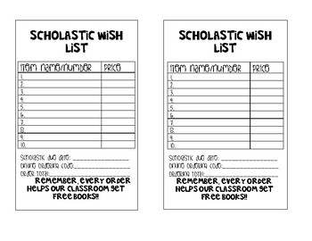 Scholastic book wish list teaching resources teachers pay teachers scholastic wish list scholastic wish list fandeluxe Choice Image