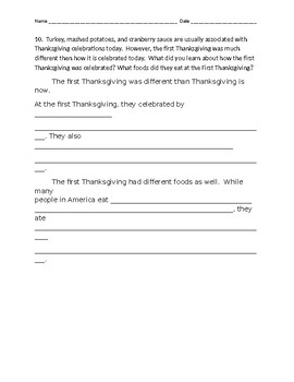 Scholastic's First Thanksgiving Scavenger Hunt