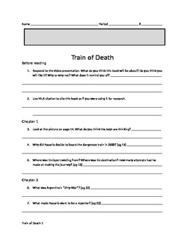 """Scholastic's """"Reporting Live: Train of Death"""" reading guide"""