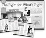 Scholastics Storyworks Jr. The Fight for What is Right Vocabulary