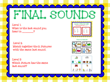 Final Sounds:  Aligned for Scholastic Reading Inventory (SRI)
