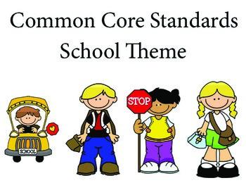 School 1st grade English Common core standards posters