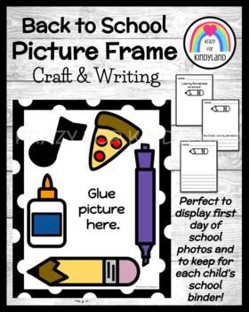 School: Picture Frame Craft: 5 Senses