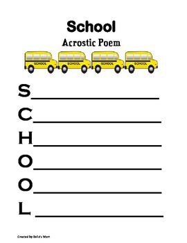 School Acrostic Poem