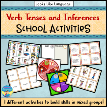 Picture Lotto Games & Activities for School Riddles & Verb Tenses