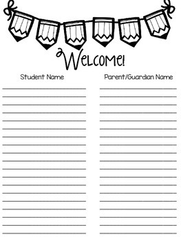 School Activity Sign-In Sheets *FREEBIE*