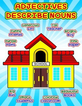 School Adjective Poster