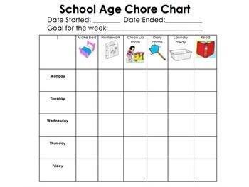 School Age Chore Chart!