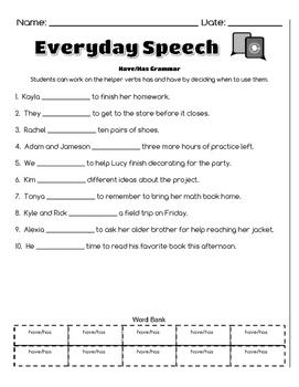 School Age Grammar Bundle-Parts of Speech