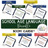 Language BUNDLE BOOM Cards™ for School Age NO print