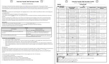 UPDATED School Age Pragmatics Checklist