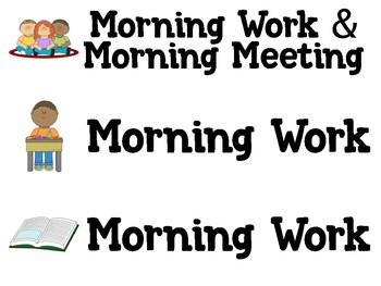Daily Agenda Labels