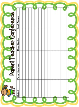 school animal parent teacher conference reminders posters and sign