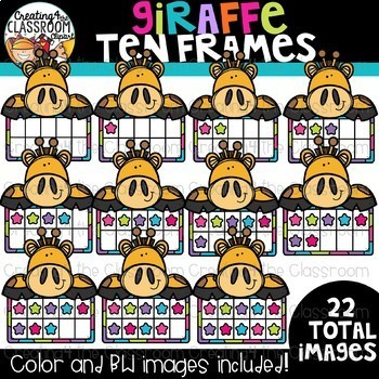 School Animal Ten Frames Bundle {Math Clipart}