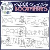 School Animals Bookmarks