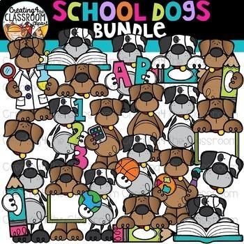 School Animals Growing Bundle {School Clipart}