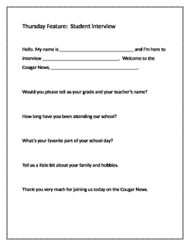 Scripts for School Announcements and News