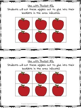 Fall Apples Positional Words Booklet