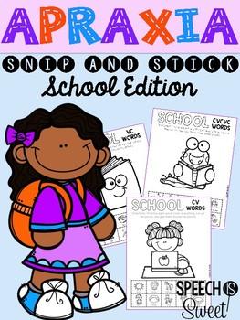School Apraxia: Snip and Stick!