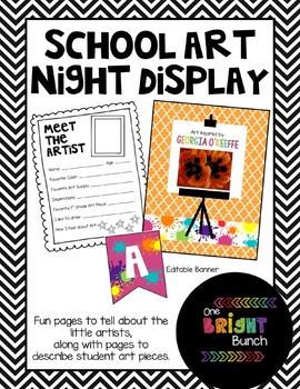 School Art Night Display