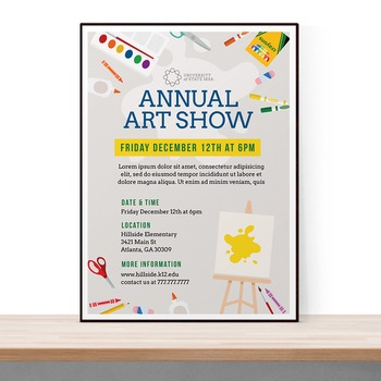 School Art Show Flyer Template For Art Festival By Theflyerpress