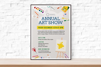 School Art Show Flyer Template for Art Festival